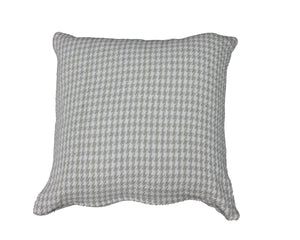 Taupe Houndstooth Cushion