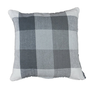 Ash Grey Herringbone Check Cushion