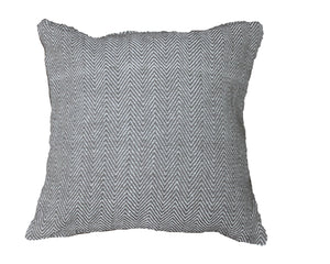 Grey Herringbone Stripe Cushion