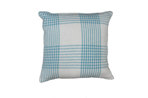 Aqua Plaid Cushion