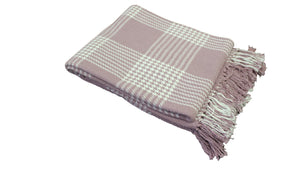 Lavender Plaid Throw