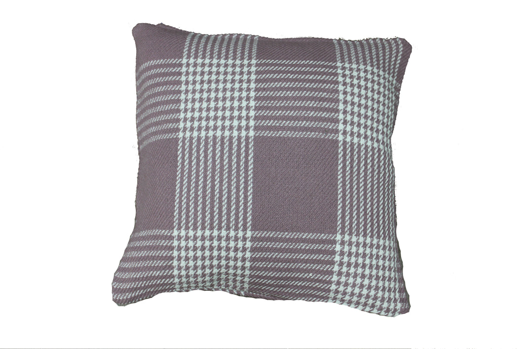 Lavender Plaid Cushion
