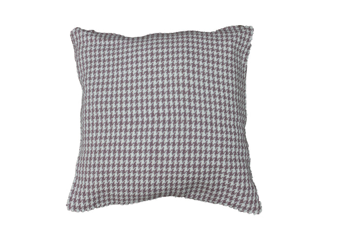 Purple & White Houndstooth Cushion