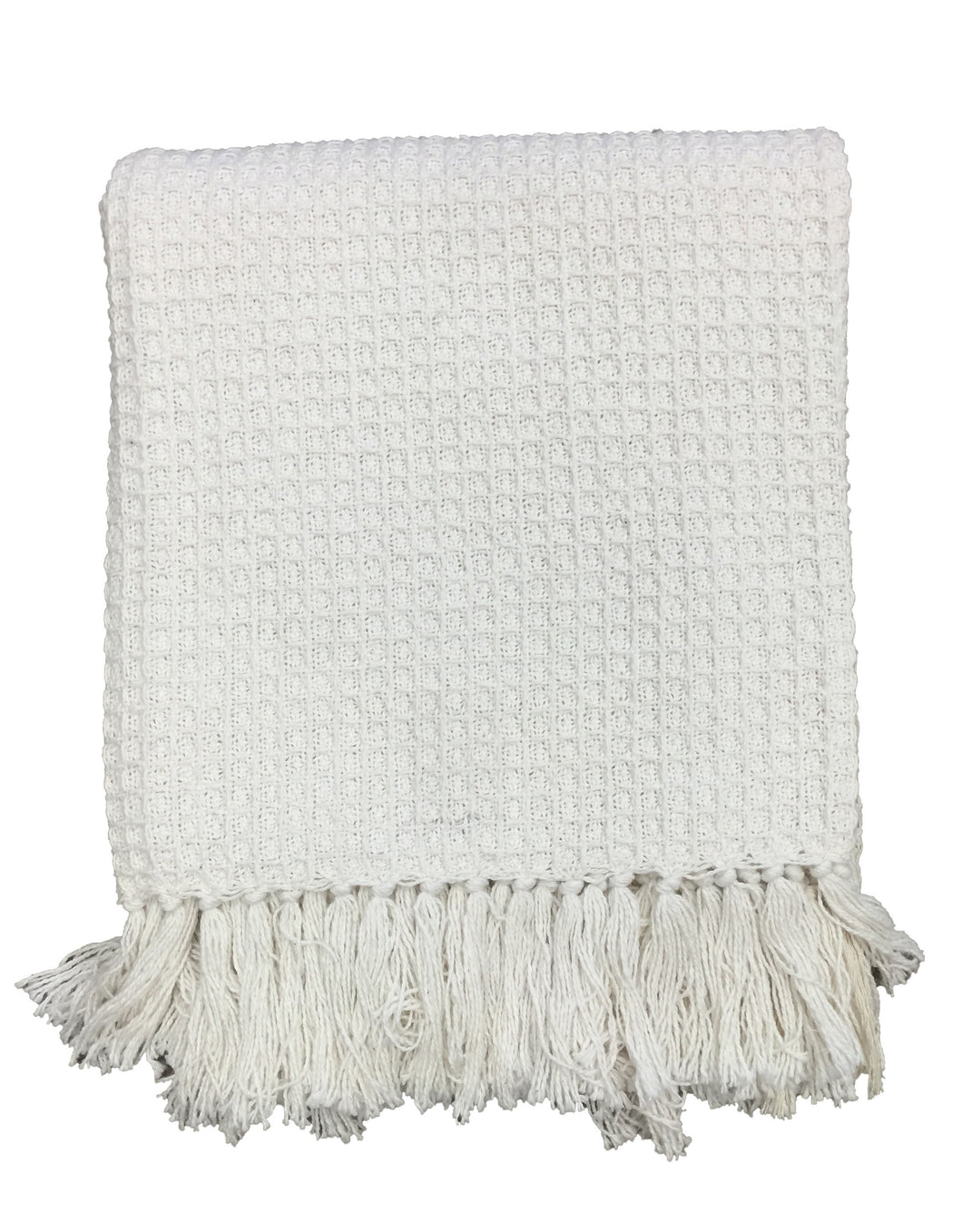 Cream Honeycomb Throw