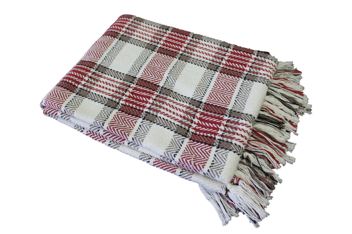 Red Highland Throw