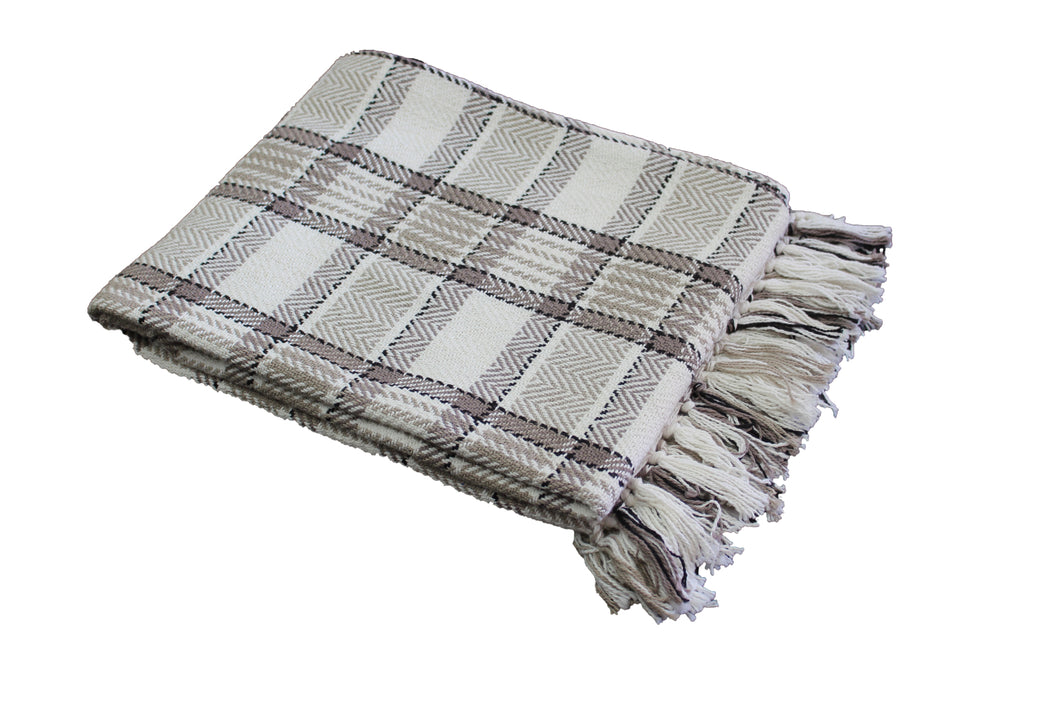 Taupe Highland Throw
