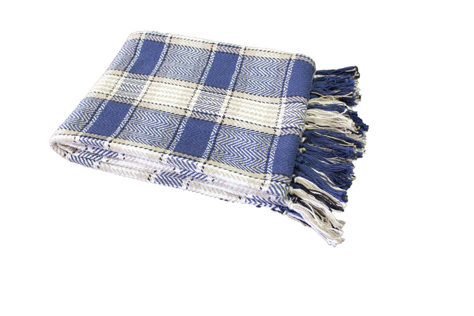 Midnight Blue Highland Throw