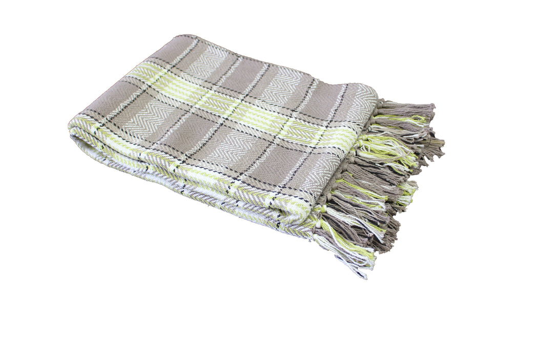 Lime Highland Throw