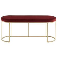 Load image into Gallery viewer, Burgundy & Gold Perla Bench