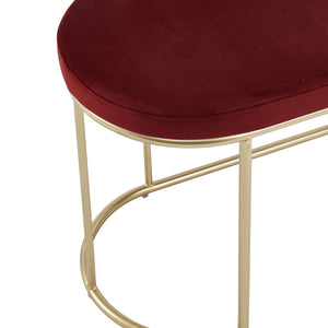 Burgundy & Gold Perla Bench  | Best Accent Pieces For Living Room