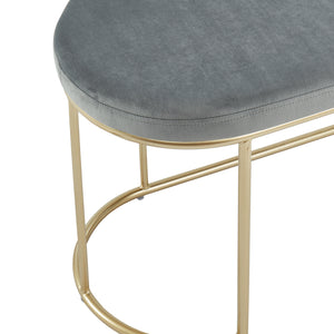 Grey & Gold Velvet Perla Bench | Best Accent Pieces For Living Room