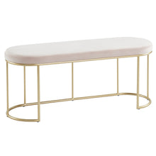 Load image into Gallery viewer, Blush Velvet Perla Bench | Best Accent Pieces For Living Room