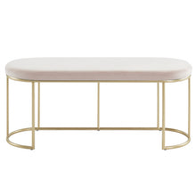 Load image into Gallery viewer, Blush Gold Velvet Perla Bench