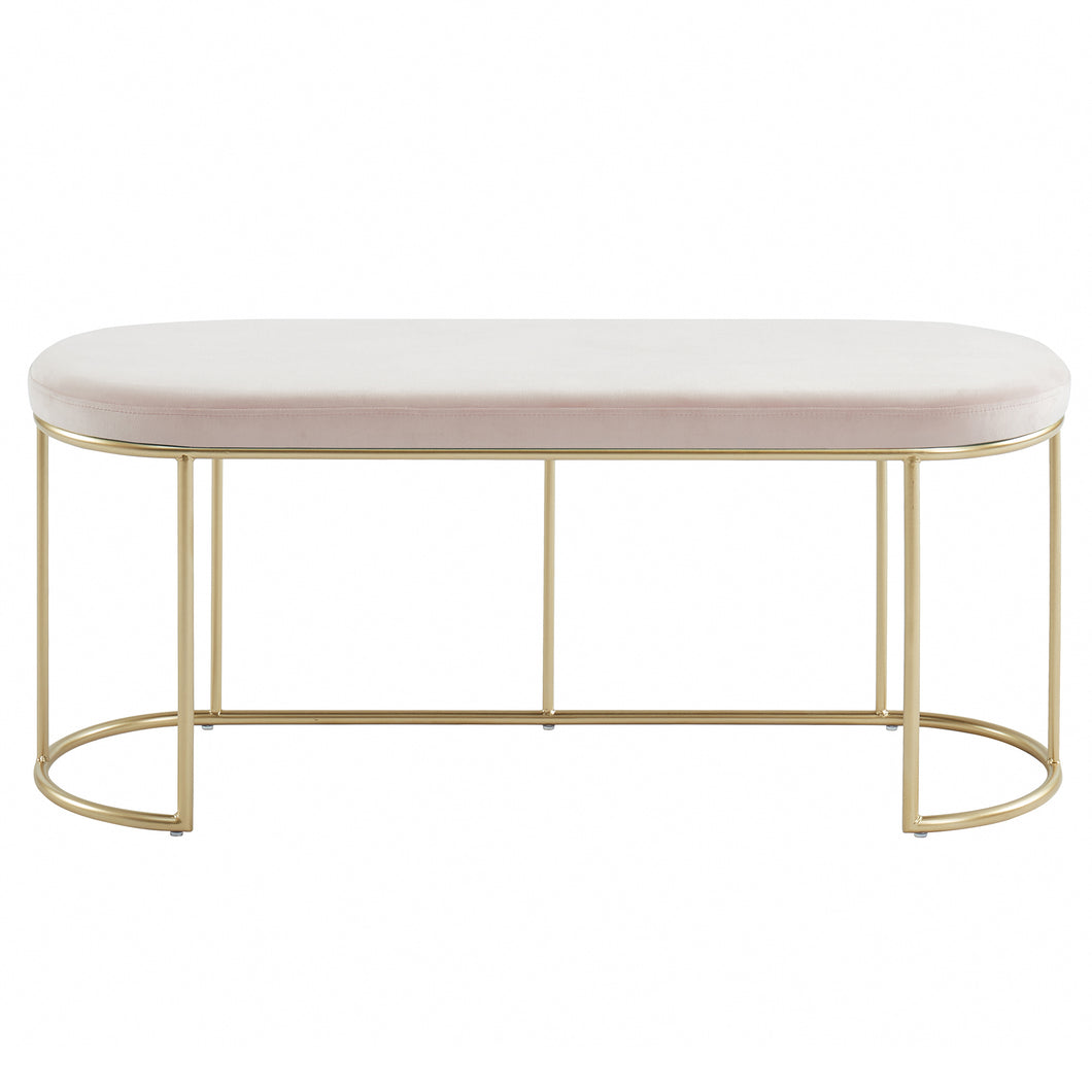 Blush Gold Velvet Perla Bench