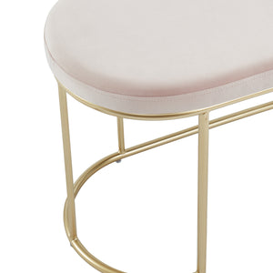 Blush Velvet Perla Bench | Best Accent Pieces For Living Room