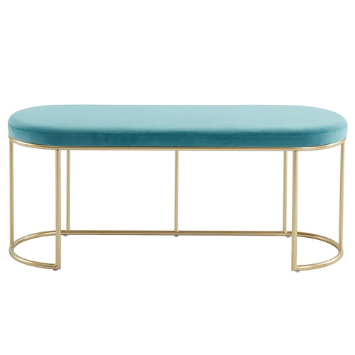 Teal & Gold Perla Bench
