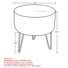Load image into Gallery viewer, Black Ottoman Stool