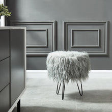 Load image into Gallery viewer, Grey Ottoman Stool | Best Home Decor