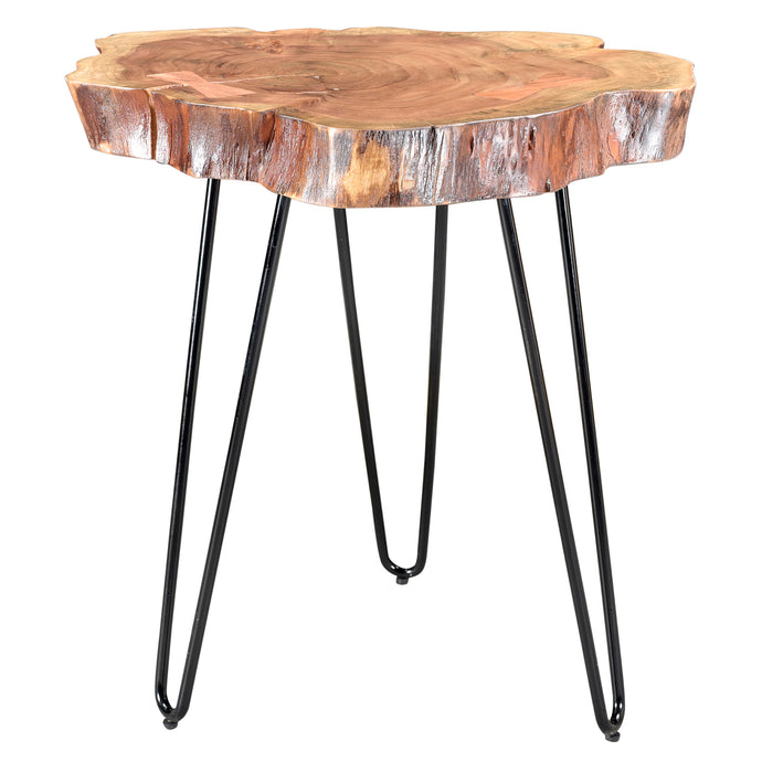 Natural Wood Accent Table
