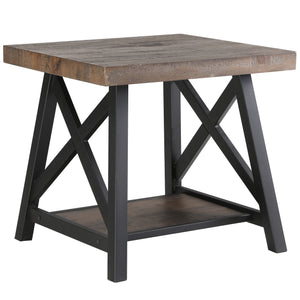 Rustic Oak Accent Table