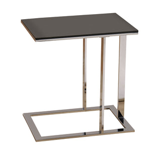 Chrome & Black Modern Accent Table