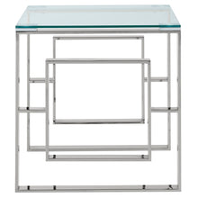 Load image into Gallery viewer, Silver Contemporary Accent Table