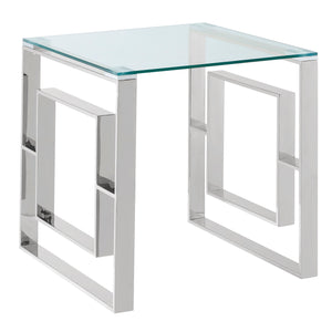 Silver Contemporary Accent Table