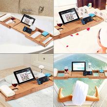 Load image into Gallery viewer, Bamboo Bathtub Tray