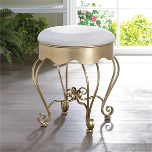 Gold Scroll Stool, home accents