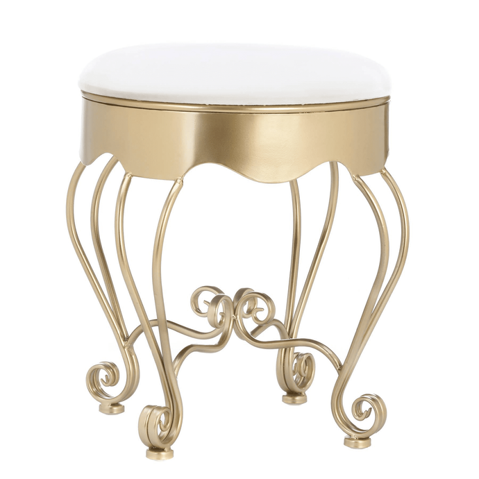 Gold Scroll Stool