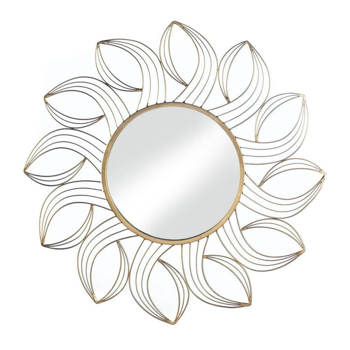 Gold petals wall mirror wall decor