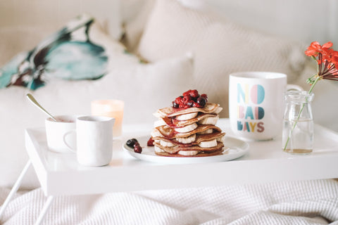 Millie Mayfield Staycation, Self care, Wellness, pancakes