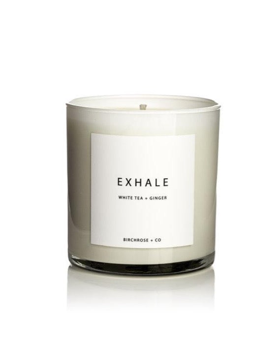 Home candle Exhale - White Tea + Ginger