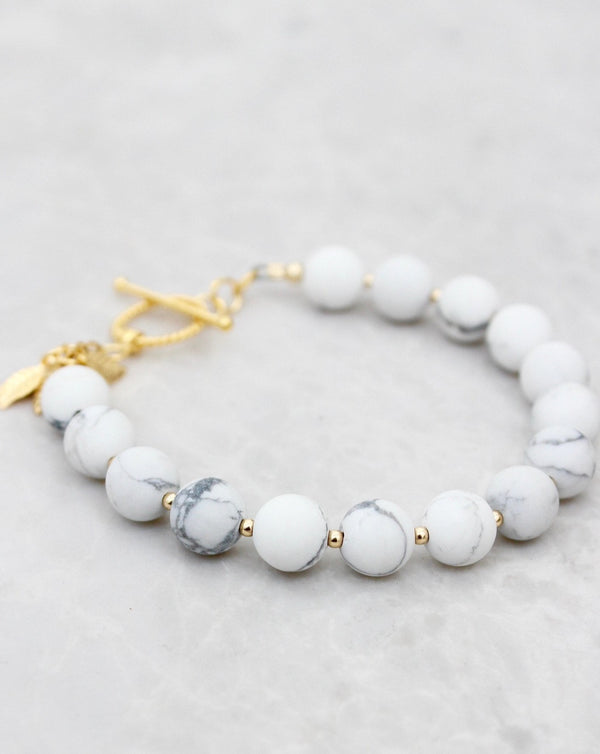 Womens jewelry, gift guide, womens bracelet, white marble, healing stone, gift, jewelry gift,  anniversary gift, mothers day gift