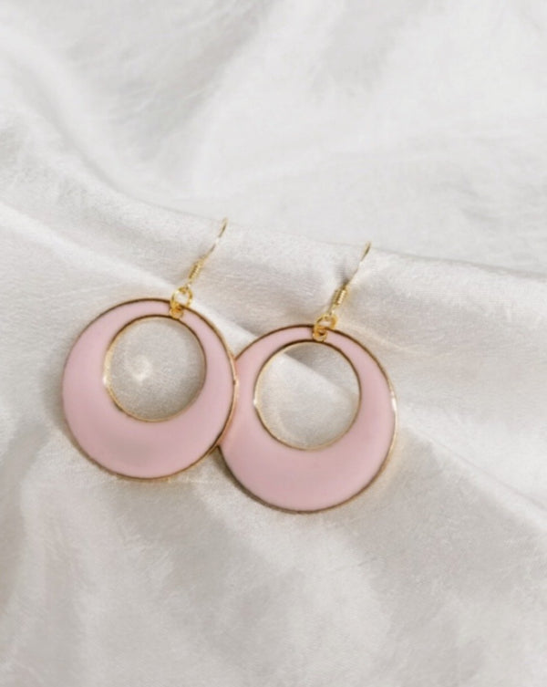 The Maggie Pink & Gold hoops