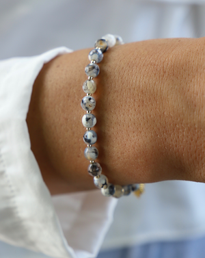 Blue Sky Glass Bracelet