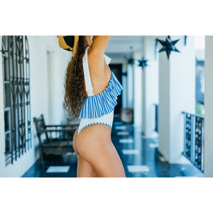 The Guincho White + Blue One Piece