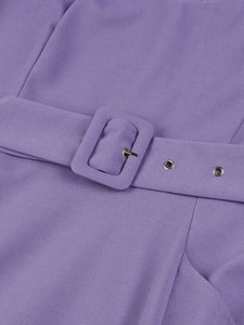 【Pre-Sale】Romantic Lilac Short Sleeve Mesh Vintage 1950S Dress With Pockets