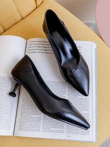 Pointed Toe Kitten Heel Vintage Shoes