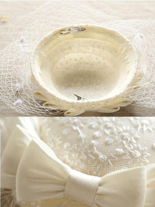Sweet Bow Lace Tulle Net 1950S Hat