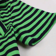 Load image into Gallery viewer, Bow Collar Green Stripe 1950S Vintage Swing Dress