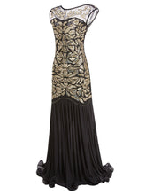 Load image into Gallery viewer, Green 1920s Maxi Sequined Flapper Dress