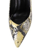 Load image into Gallery viewer, 9.5CM High Heel Pointed Toe Snake Print Sheep Skin Leather Shoes