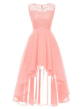 Load image into Gallery viewer, Chiffon Off Shoulder Wedding High Low Hem Prom Dress