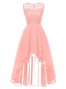 Chiffon Off Shoulder Wedding High Low Hem Prom Dress