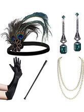 Load image into Gallery viewer, 1920s Flapper Gatsby Costume Accessories Set