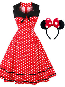Minnie 1950s Polka Dot Swing Dress
