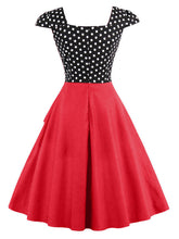 Load image into Gallery viewer, Polka Dots Cotton Flapper 1950s Dress