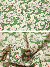 Load image into Gallery viewer, Green Floral Print Chelsea Collar 1950S Vintage Pant Set