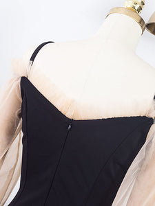 Ballet Cold Shoulder Vintage Little Black Dress